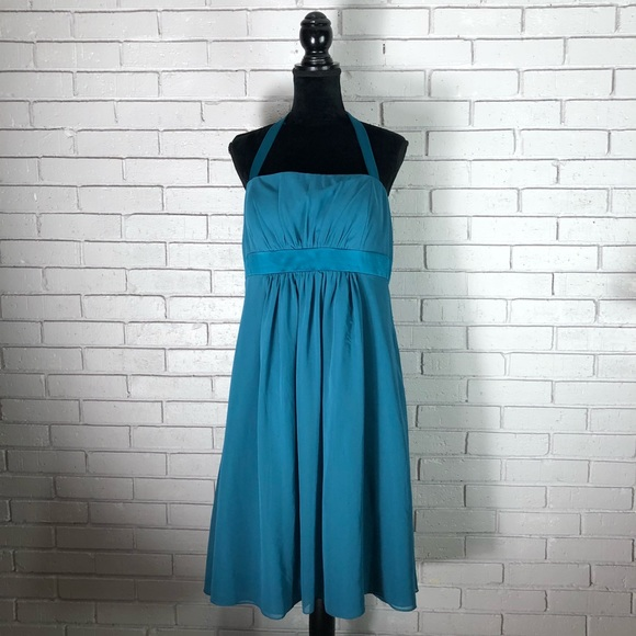 01cf380dbf Alfred Angelo Cocktail Length Teal Maternity Dress